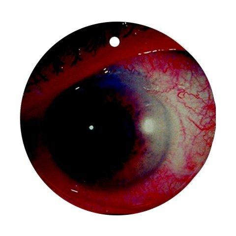 Porcelain Ball Finial - Red Eye bloody eyeball Ornament round porcelain Christmas Great Gift Idea