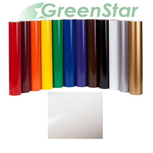 GreenStar Sign Vinyl 24 x 10Yd, Graphics and Lettering for Interior & Exterior - Gloss White