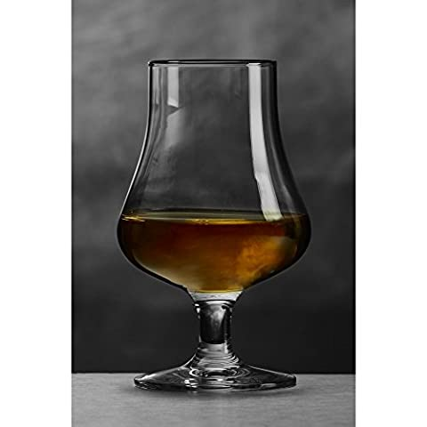 Brilliant – Highland Tasting and Nosing Scotch Glass on a Short Stem, 6.75oz. (Set of 2 in Individual Gift Boxes)