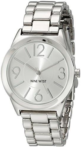Nine West Women's NW/1663SVSB Silver-Tone Bracelet Watch 1