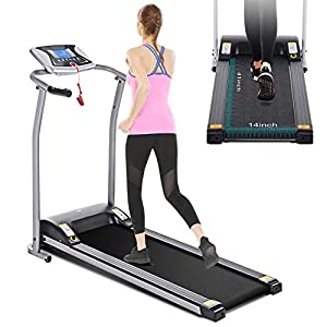 Mauccau Folding Treadmill Electric Motorized Running Machine Portable Treadmill for Home Small Spaces Office Gym Walking Jogging Exercise Fitness Low Noise
