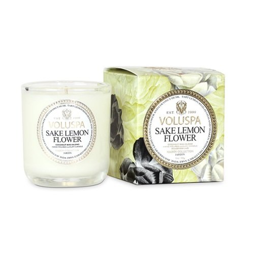 Voluspa Maison Jardin Collection, Classic Votive Candle, Sake Lemon Flower, 3 oz ()