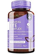Natuurlijk oog complex - met luteïne, zeaxanthine, bosbessenextract, vitamine A, B12 en zink - voor behoud van normaal zicht - 90 vegan capsules - 3 maanden voorraad - Gemaakt door Nutravita