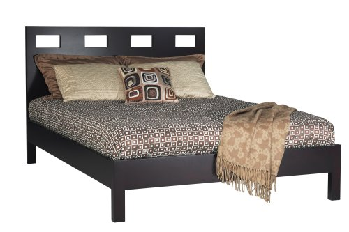 Modus Furniture Riva Platform Bed, Espresso, California King