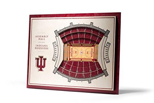 NCAA Indiana Hoosiers 5-Layer Stadiumviews 3D Wall Art