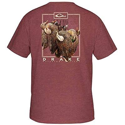 Drake Hanging Decoy Short Sleeve T-Shirt - Maroon Heather