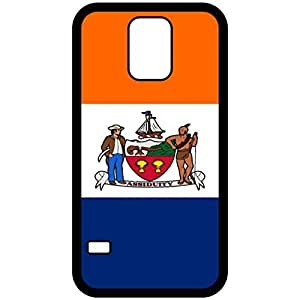 Albany New York NY City State Flag Black Samsung Galaxy S5 Cell Phone Case - Cover