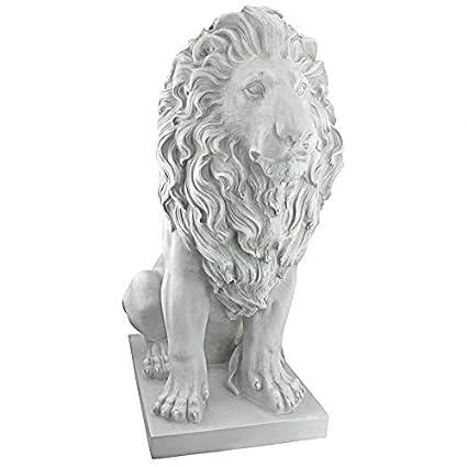 Amazon.com: Design Toscano KY71134 estatua de león de ...