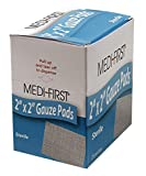 Medique Gauze Pad, Sterile, 12 Ply Cotton, PK25-60673, (Pack of 5)