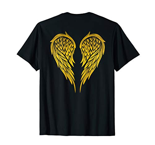 Angel Wings Gold Back Shirt for Men Women Kids T-Shirt