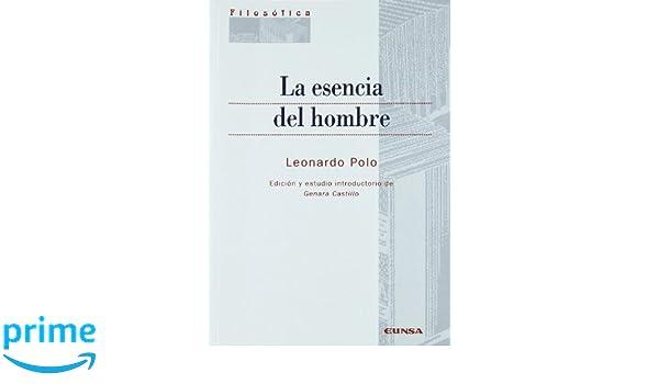 La esencia del hombre (Colección filosófica): Amazon.es: Leonardo ...