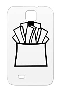Fries Black For Sumsang Galaxy S4 Tearproof Chef Lunch Symbols Shapes Fast Eat French Restaurant Cook Dinner Meal Food Protective Case