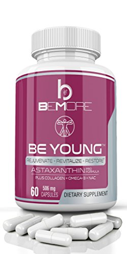 beMore ASTAXANTHIN PRO | The ONLY Astaxanthin Supplement Fortified with Type-II Collagen, Krill Oil Omega-3 & NAC for the Best Anti-Oxidant Anti-Inflammation Power to Keep you Looking & Feeling Young