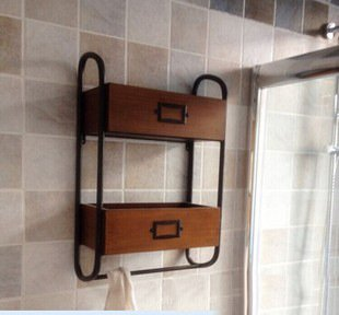 Incroyable BIAN Retro Wall Mounted Double Wrought Iron Bathroom Towel Rack Bathroom  Shelf Towel Bar