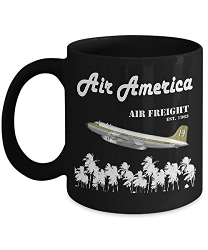 ght - The CIA's Very Own Airline - Black Coffee Mug, 11 Oz ()