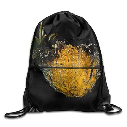 Beatybag 3D Print Drawstring Bags Bulk, Water Pineapple Halloween Unisex Gym Drawstring Shoulder Bag Backpack String Bags -