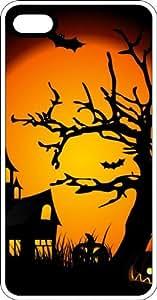 Haunted Halloween Scene White Plastic Case for Apple iPhone 6 Plus