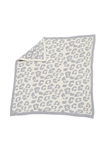 Barefoot Dreams Cozychic Barefoot in the Wild Baby Blanket - Ocean / Cream (Elephant Blanket Boa)
