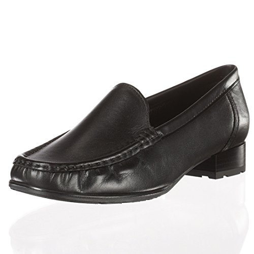 60107 Jenny 06 Loafer Women's Flats Black 22 q77E8OnTx