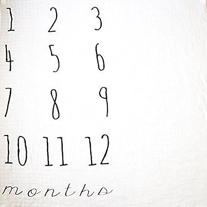 Amazon.com: Manta de mes por mes para bebés: Baby