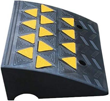 ゴム製段差プレート スロープ16CM高反射率ステップスロープスリッパ減速機沿ってゴムの道 産業用ゴム縁石ランプ (色 : Black, Size : 50x37x16cm)