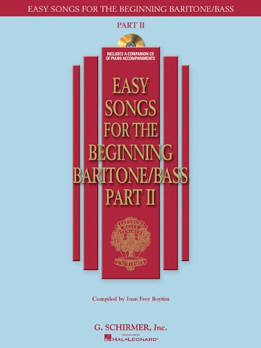 EASY SONGS FOR THE BEGINNING BARITONE/BASS PART II BK/CD