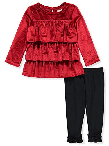 BCBG Baby Infant 2-Piece Leggings Set Outfit - red, 12 Months ()