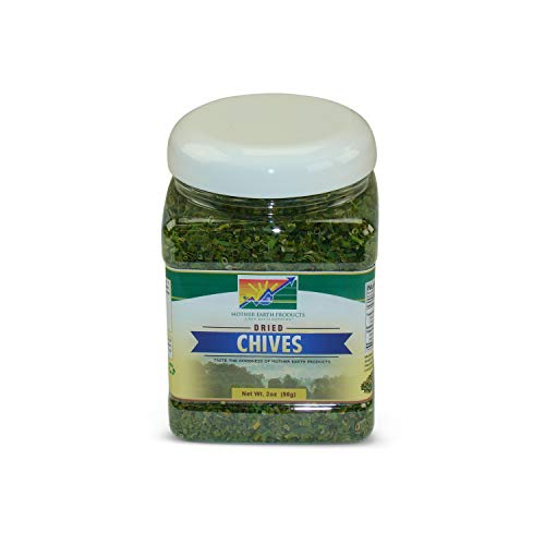 Mother Earth Products Dried Chives (One Full Quart Plastic Jar)