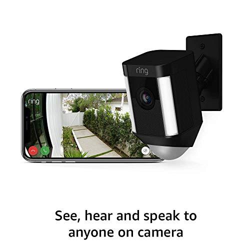 Ring Spotlight Cam Mount HD Security Camera (Black) and Echo Dot (4th Gen)