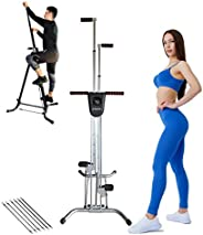 Vertical Climber Exercise Machine   Folding Climbing Machine for Full Body Home Gym Cardio Workout   Fitness S