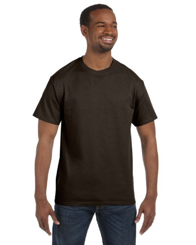 Hanes ComfortBlend® EcoSmart® Crewneck Men's (Brown T-shirt)