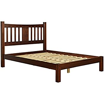 Amazon Com Modern Shaker Solid Wood Queen Slat Platform