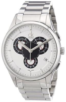 Calvin Klein Men's K2A27185 Basic Analog Display Swiss Quartz Silver Watch