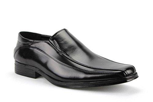 Majestic Men's 20221 Classic Slip On Dress Shoes, Black, 11
