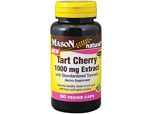 Mason Vitamins Tart Cherry Extract with Standardized Turmeric Softgels, 1000 mg, 60 (Extract Standardized 60 Softgels)