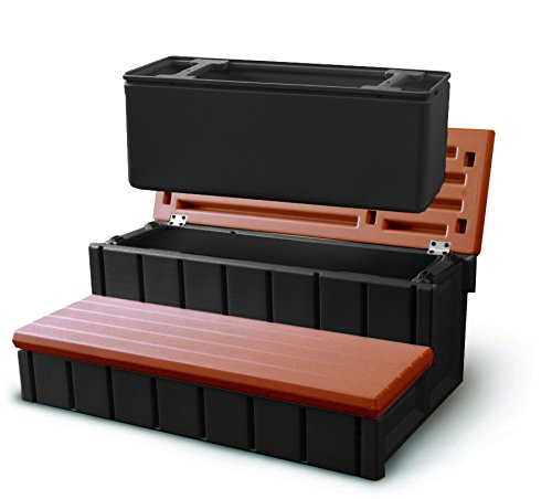 Confer Plastics Spa Step with Storage - Redwood Redwood Steps