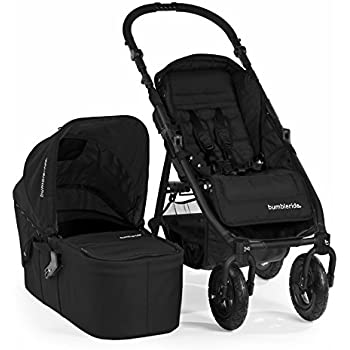 Bumbleride Indie 4 Urban All Terrain Stroller with Bassinet, All Black