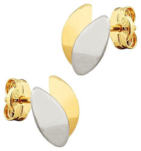Orleo - REF11788 : Boucles d'oreille Femme Or 18K bicolore