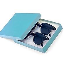 MJ Eyewear 2-Pack Clubmaster Half Rimmed Sunglasses Gift Box