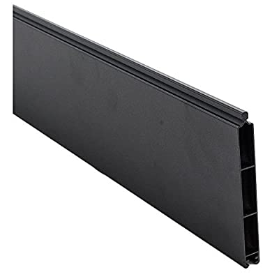 0.41 ft. H x 5.91 ft. W Euro Style Black Aluminum Fence Board