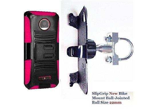 SlipGrip Uボルトバイクホルダーfor Motorola Moto Z Force Droid使用Rugged Holster Case B01L2QYJ5C