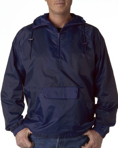 Navy Pullover Windbreaker - 9
