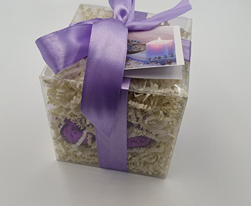 LAVENDER CHAMOMILE GIFT SET with 6 Bath Bomb Fizzies with Shea, Mango & Cocoa Butter, Ultra Moisturizing (14 Oz) Great for Dry Skin, All Skin Types (Lavender Chamomile)