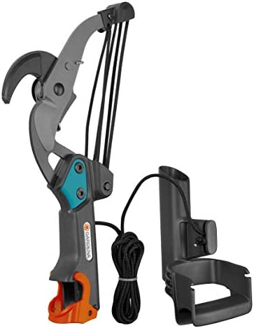 GARDENA Combisystem Anvil Branch Pruner: Branch pruner, 5-fold roller transmission, cuts branches up to 35 mm in diameter, 4.7 m tear-proof pulling cord, D-grip (00297-20)