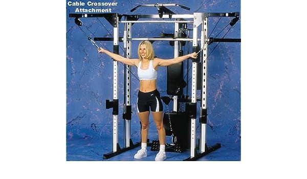 Caribou III máquina de gimnasio en casa & Smith - Dip, púlpito, PEC Cubierta y cable cruzado: Amazon.es: Deportes y aire libre