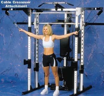 Caribou III Home Gym & Smith Machine Dip, Preacher Curl, Pec Deck and Cable Crossover