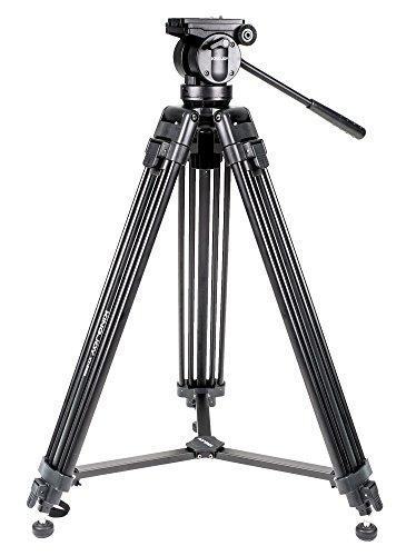 Kingjoy VT-2500 Professional 155 cm Heavy Duty Aluminium Video Tripod Kit...