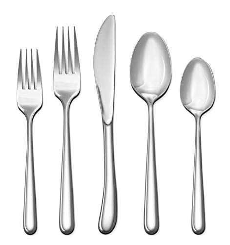Craft & Kin Silverware Set, Hand-Forged Classic Heirloom Luxury Silver Flatware Set | Premium Quality Pure Stainless Steel Cutlery Set | High Mirror Polished Dinnerware Set (20-pc, Set for 4) - HAND-FORGED LUXURY HEIRLOOM FLATWARE: Authentic high quality silverware for fancy home and restaurant meal settings. Perfect complement to any modern, farmhouse or eclectic dining room tablescape. PREMIUM QUALITY, MODERN ELEGANT DESIGN | HIGH MIRROR POLISHED & COMFORTABLY WEIGHTED WITH GOOD GRIP: Sleek & modern dinnerware with luxuriously high polished finish. Available in 3 classic variants; gold flatware, black flatware & silver flatware. WHAT YOU GET: 20-PIECE, SET FOR 4 PERSONS | STURDY & DURABLE: Includes 4 of each: 4x Dinner Forks, 4x Salad Forks, 4x Dinner Knives, 4x Dinner Spoons & 4x Teaspoons. Craft & Kin's tableware set will set a great classy mood for your next intimate family dinner! - kitchen-tabletop, kitchen-dining-room, flatware - 41xb4clJSNL -