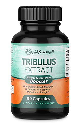 - Tribulus Terrestris Extract Supplement - Natural Testosterone Booster Support with Estrogen Blocker for Men & Women - Energy, Stamina & Libido Support - 45% Steroidal Saponins 1300mg - 90 Capsules