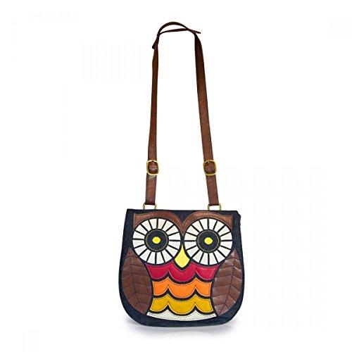 Loungefly Owl Denim Crossbody Messenger Bag